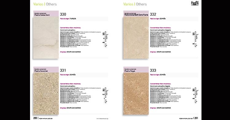La Guía de la Piedra Natural 2021 ofrece información de cerca de 350 piedras diferentes
