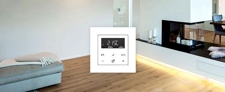 Controlador de temperatura ambiente con pantalla