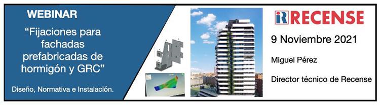 Fijaciones para fachadas prefabricadas de hormigón y grc en el curso online de InfoConstrucción