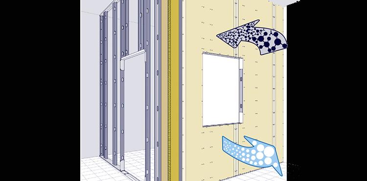 Tabiques, trasdosados y techos que purificaran el aire interior