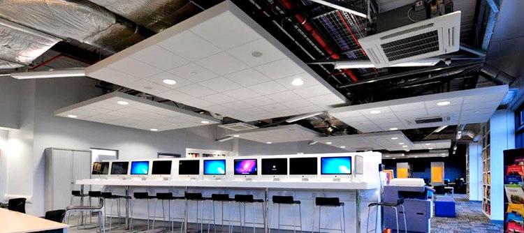 Los techos constituyen un elemento clave en el renovado concepto de oficina