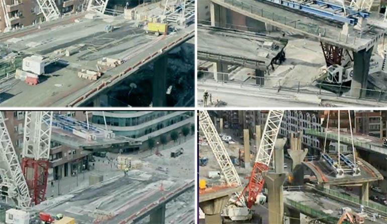 Demolición Viaducto Sabino Arana Bilbao