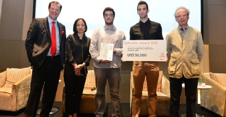 Alumnos ganadores de la Escuela de Arquitectura de Zaragoza