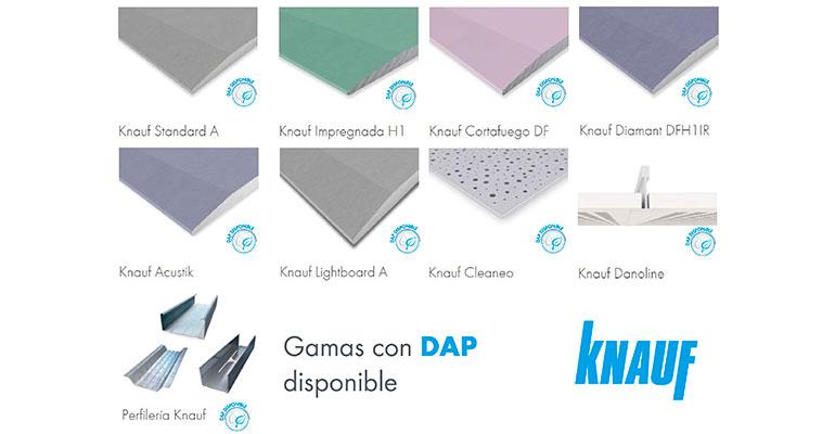 productos knauf con DAP