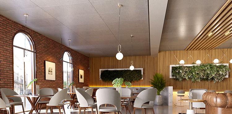 Paneles para techos y paredes creados con hormigón
