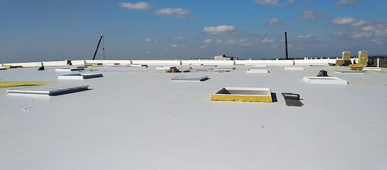 Membrana termoplástica para impermeabilizar cubiertas