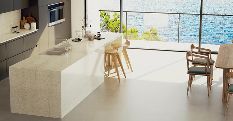 Cuarcita blanca para cocinas y baños