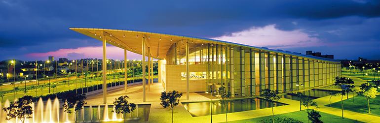 Palacio de Congresos de Valencia vista nocturna