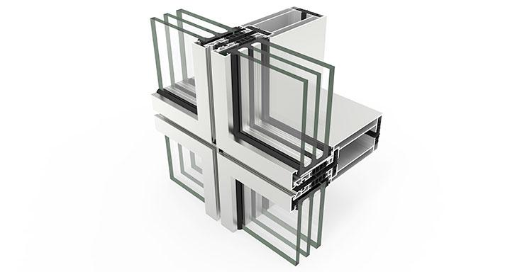 Fachada modular con rotura de puente térmico