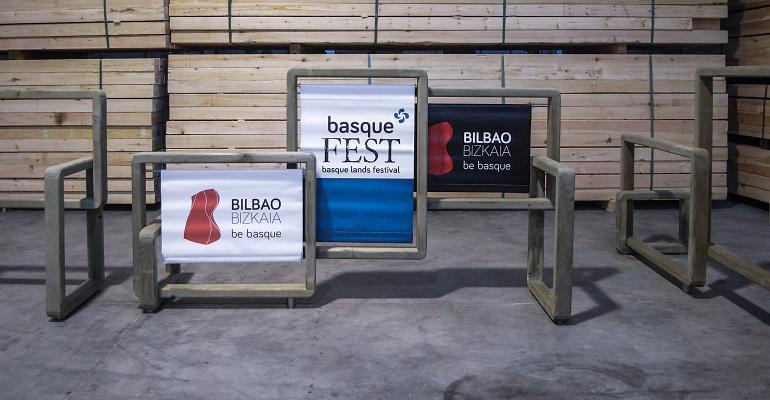 Bilbao valla madera local