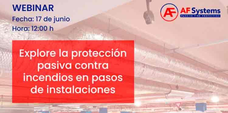 La protección pasiva contra incendios en pasos de instalaciones en el curso online de AF Systems