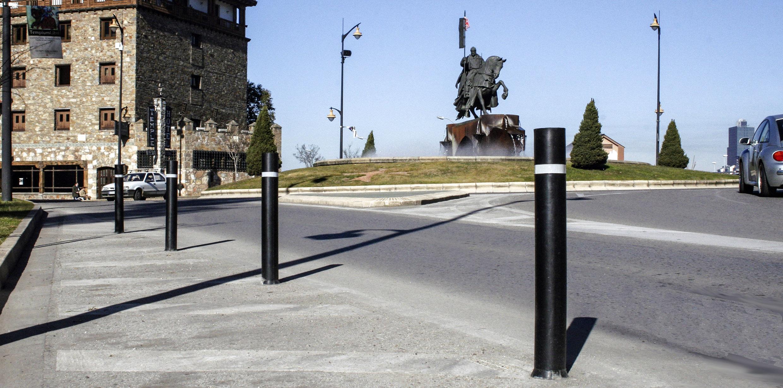 Pilonas urbanas fabricadas en caucho resistentes a los impactos