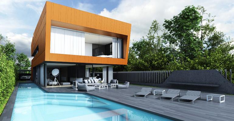 Casa unifamiliar de diseño construida en madera de arquima