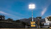 Atlas Copco presenta una torre de iluminación LED silenciosa