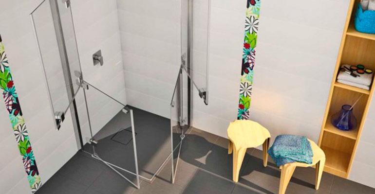 Mamparas diseñadas para reducir accidentes y facilitar la movilidad en la ducha