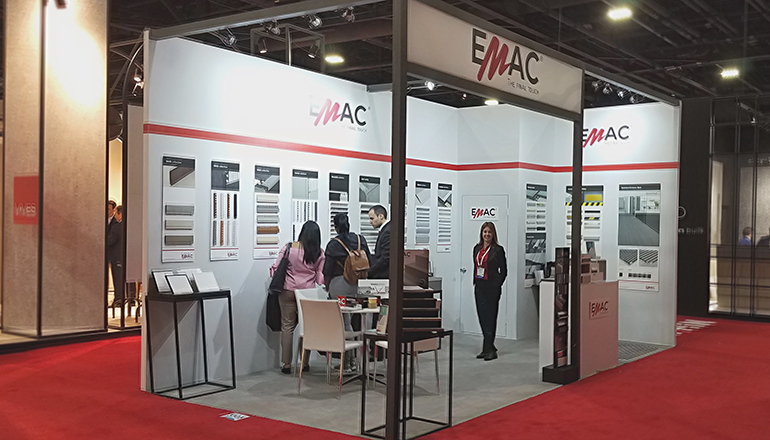 Emac, presente en Architect at Work y Coverings