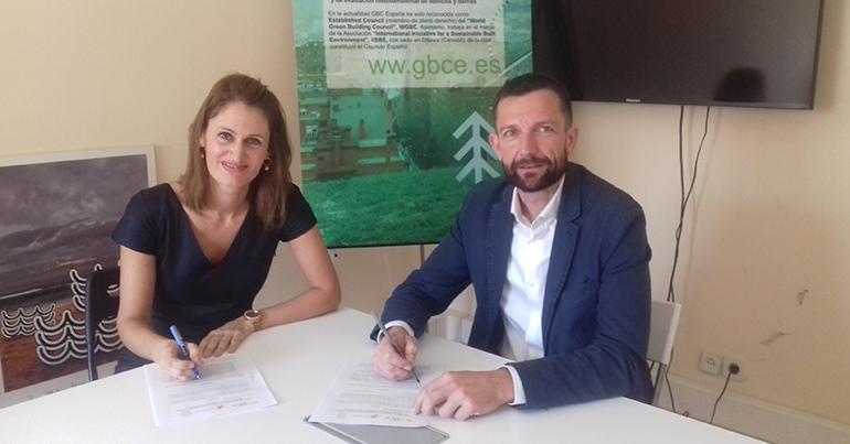 Firmado acuerdo de colaboración entre Hispalyt-Consorcio Termoarcilla y Gbce