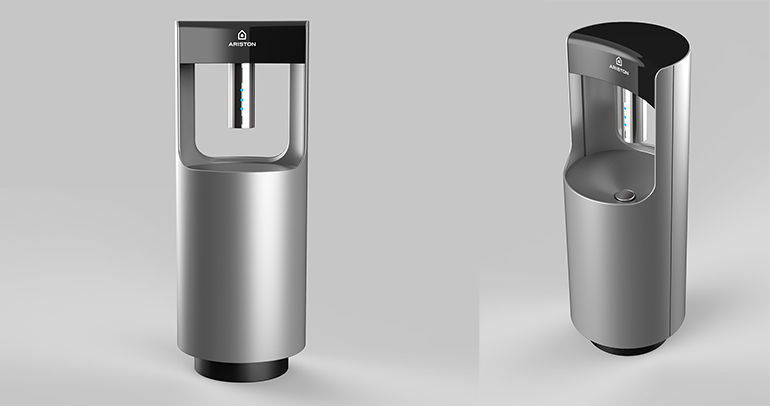Ariston Thermo Group presenta una innovadora fuente de lavado y desinfección de manos