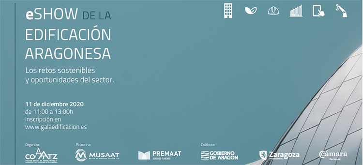 La Gala de la Edificación Aragonesa tratará los retos y oportunidades del sector tras la Covid-19