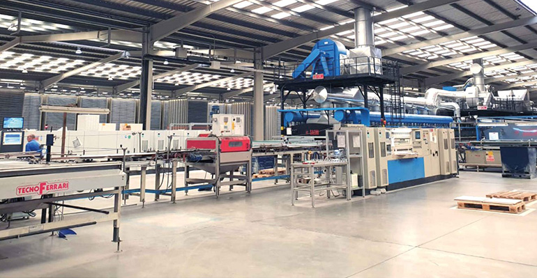 Grupo Grespania invierte en una nueva línea de producción