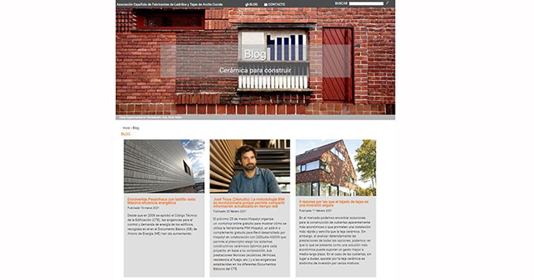 Hispalyt lanza el blog 'Cerámica para construir'