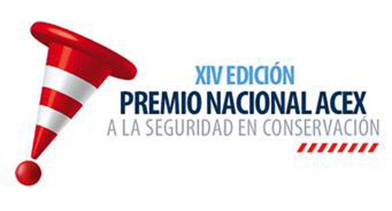 XIV premio nacional Acex a la seguridad en el mantenimiento de infraestructuras