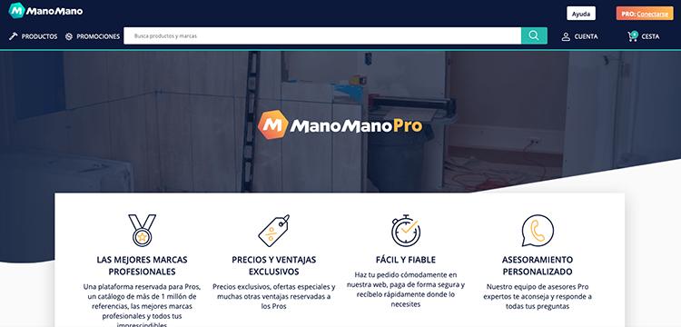 Manomanopro aborda el mercado de suministros de la construcción