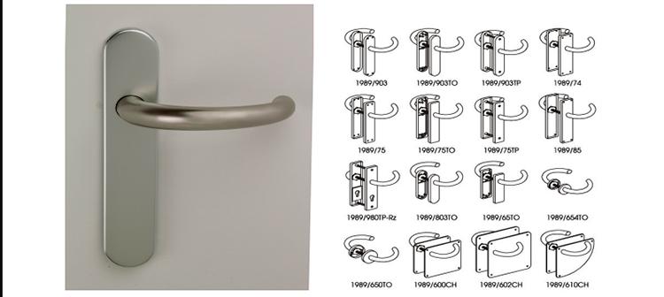 Manillas especialmente diseñadas para poder ser abiertas con el codo