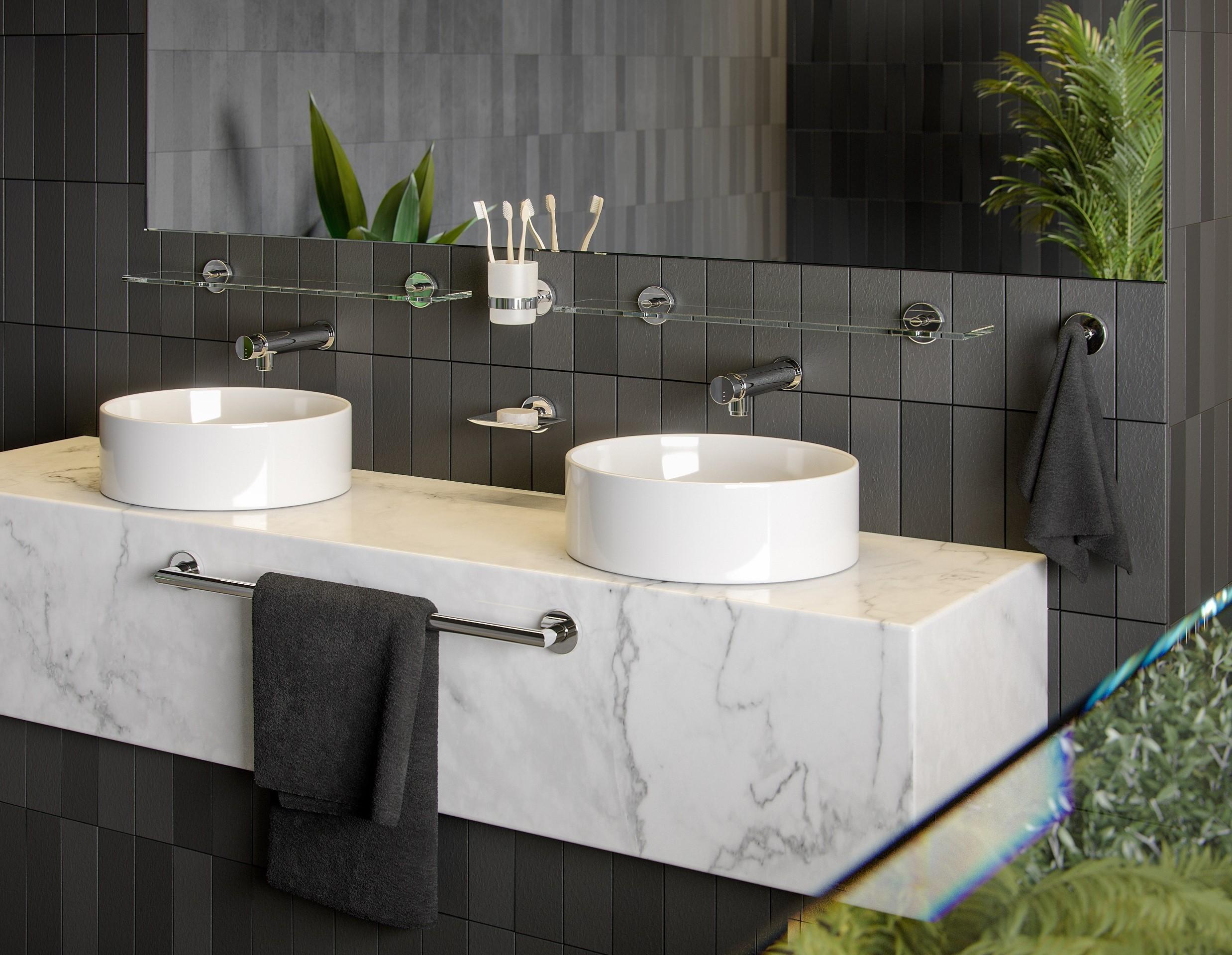 Accesorios de baño Niza y Barcelona para el sector residencial y contract