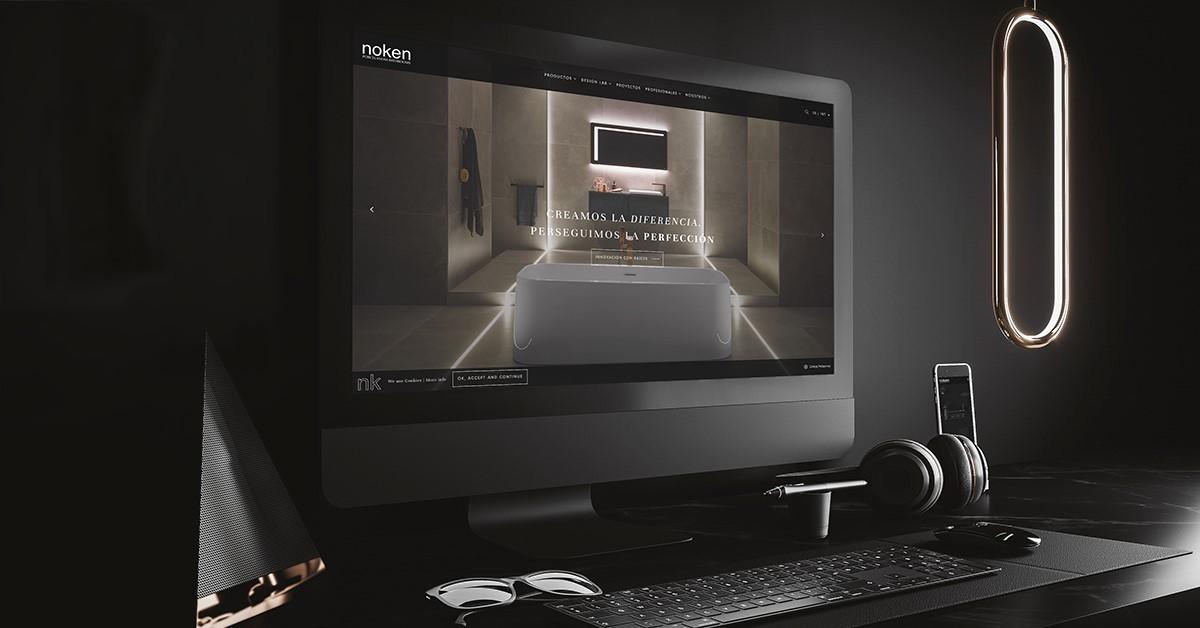 La nueva web de Noken Porcelanosa Bathrooms prima la fluidez en el diseño