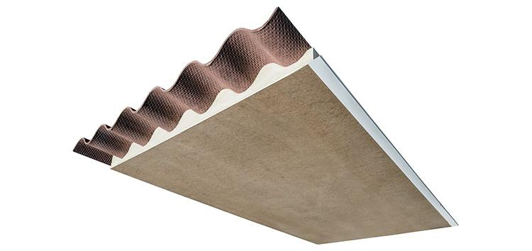 Panel sándwich de madera hidrófuga para cubiertas