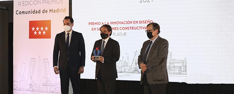 Pladur recibe el Premio Comunidad de Madrid a la Innovación en Diseño en Soluciones Constructivas