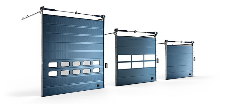 Puerta seccional con gran velocidad de apertura