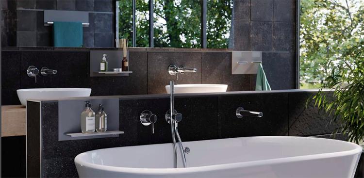 Sistema de perfiles para accesorios de baño