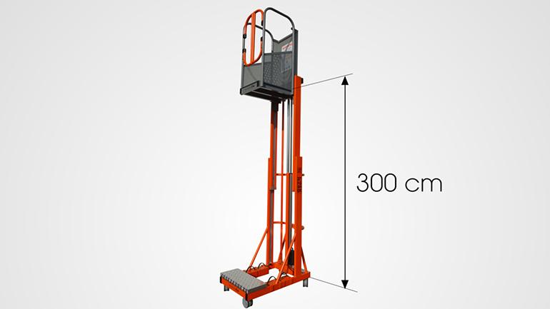 Elevadores verticales para personas de empuje manual y elevación eléctrica